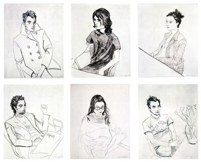 Elizabeth Peyton, 'Gavin, Tony, Corinna, Rirkrit, Ben Spencer', 2002