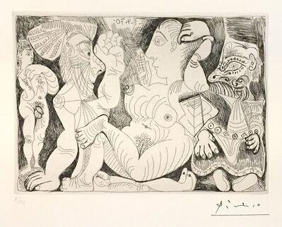Pablo Picasso, 'Pablo Picasso Vieil Homme et Femme, avec un Jeune Athlète et un Nain ', 1970