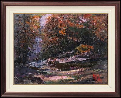 Mark King, 'Mark King Original Oil Painting On Canvas Signed Landscape Framed Artwork', 1991