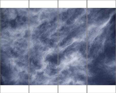Jeri Eisenberg, 'Songs of the Sky No. 13 (4 Panel Sky Photograph Japanese Kozo Paper/Encaustic)', 2018
