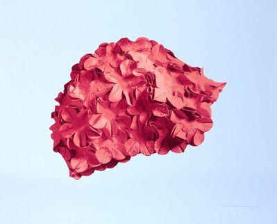 Carole A. Feuerman, 'Pink Bathing Cap (blue background)', 2015