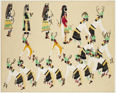 Abel Sanchez, 'Deer and Buffalo Dance', 20th Century