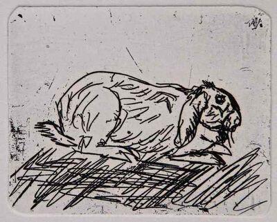 Antonio Ligabue, 'Rabbit', ca. 1968
