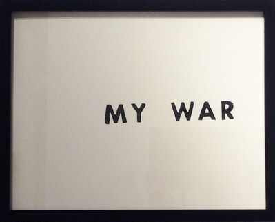 Nils Karsten, 'My War', 2016