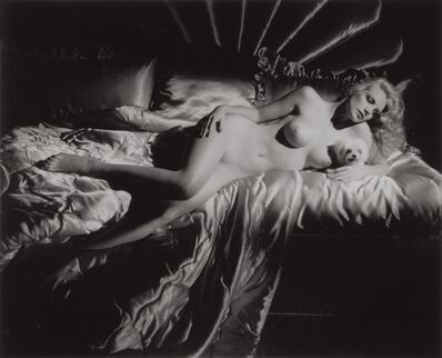 George Hurrell, 'Shannon Tweed, Reclining Nude with Dog', 1982/1995