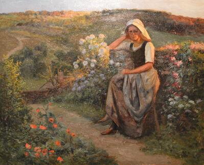 Paul Albert BAUDOUIN, 'A  Woman In A Garden Path ', ca. 1910