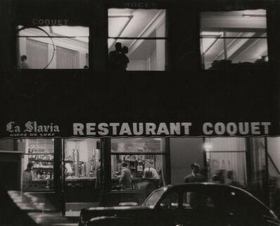 Sabine Weiss, 'Restaurant Coquet, Paris', 1953/1954