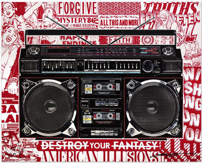 FAILE, 'Lyle Owerko and Faile signed 'Boombox Illusions'', 2018