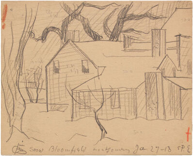 Oscar Bluemner, 'SNOW, BLOOMFIELD, MONTGOMERY JAN 27-18', 1918