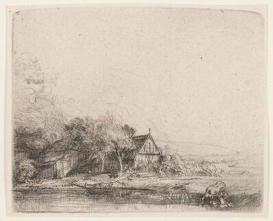 Rembrandt van Rijn, 'Landscape with cow', circa 1650