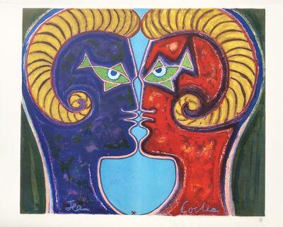 Jean Cocteau, '2 Profiles Face to Face', ca. 1960