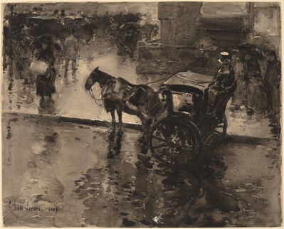 Childe Hassam, 'The Up-Tide on the Avenue', probably 1890