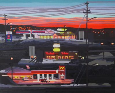 Jack Bishop, 'Dinner at a gas station', 2019