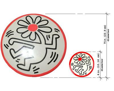 "Keith Haring, 'TWO LOT SET/POP Shop NYC - ""Dancing Flower Button- PROTOTYPE 9"" inch diameter"" & ""Dancing Flower Button 4"" inch diameter""', 1989"