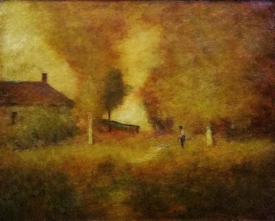 George Inness, 'The Farm House', 1892