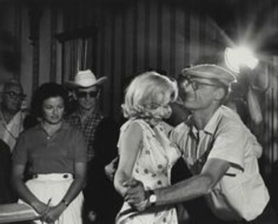 """Eve Arnold, 'Arthur Miller and Marilyn Monroe on the set of """"The Misfits""""', 1960"""