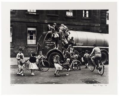 Roger Mayne, 'Children Around a Lorry, Cowcaddens, Glasgow', 1958