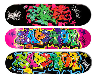 Cope2, 'Superior Set of 3 skateboard decks', 2010