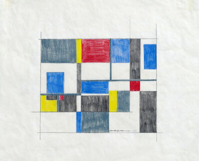 Burton Wasserman, 'Untitled Mid Century Modern Geometric Abstraction', ca. 1960
