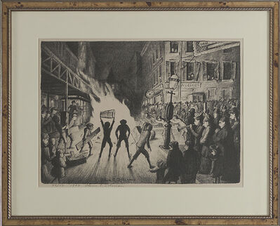 "Glenn O. Coleman, '""Election Night Bonfire""', 1928"