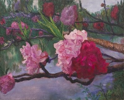 Zhou Chunya 周春芽, 'the Peach Blossom ', 2014