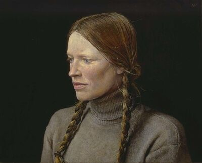 Andrew Wyeth, 'Braids', 1977