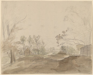 Christoph Nathe, 'A Road through a Country Village', ca. 1790
