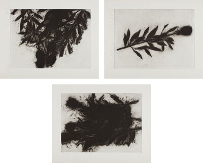 Donald Sultan, 'Black Roses (October); Black Roses; (November); and Black Roses (December)', 1989