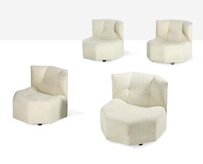 Bernard Govin, 'Rare set of 4 octa low chairs', circa 1970