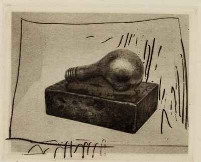 Jasper Johns, 'Light Bulb (Small), 1st Etchings', 1967-1969