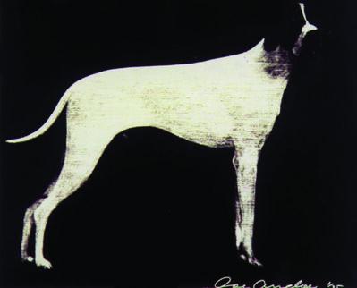 Joe Andoe, 'LARGE DOG (GRAPHITE ON SILVER)', 1998