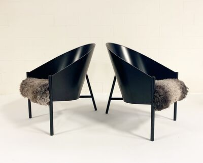 Philippe Starck, 'Pratfall Lounge Chairs Restored in California Sheepskin', early 1980s