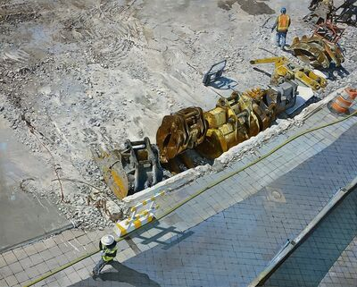 Joseph McNamara, 'Excavator Loading Shovels, Yankee Stadium Demolition', 2019-20