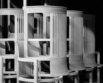 Niccolò Biddau, 'Cassina - Barrel chairs in the carpentry shop before final assembly', 2011