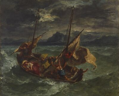 Eugène Delacroix, 'Christ on the Sea of Galilee', 1854