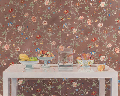 Linda Etcoff, 'Still Life with Chinese Wallpaper', ca. 2010
