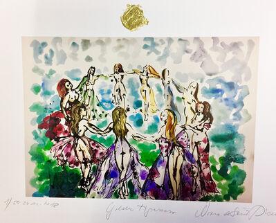 Norma de Saint Picman, 'Golden Tigresses - le circle d'énergie féminine IV', 2018