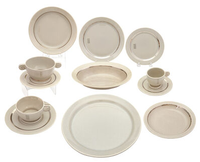 Jean Luce, 'Assembled Jean Luce Art Deco Porcelain Dinner Service'