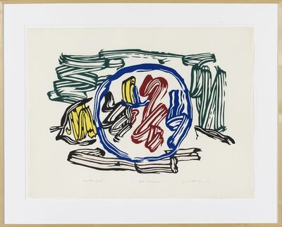 Roy Lichtenstein, 'Apple and Lemon unique exhibition proof', 1982