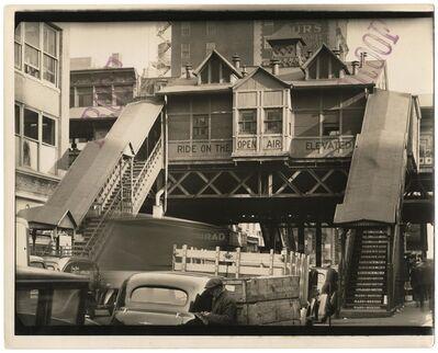 "Berenice Abbott, '""El,"" Sixth Avenue Line, 28th Street Station.', 1938"