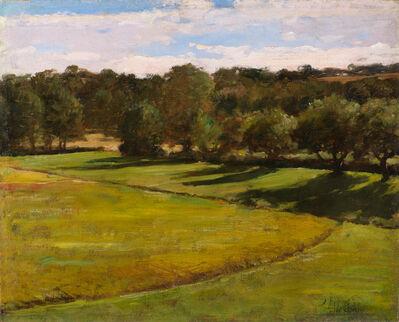 Childe Hassam, 'A Green Meadow Landscape', ca. 1880