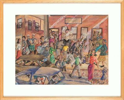 Alfred Tyler, '47th Street El Stop, Rush Hour', 1951