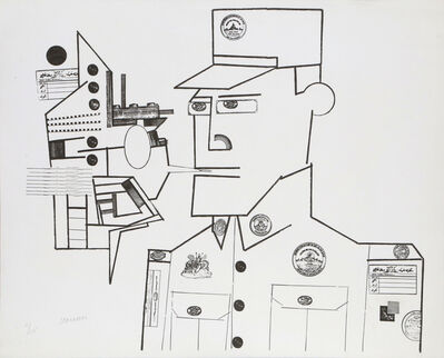Saul Steinberg, 'The Customs Agent from the Peace Portfolio', 1970
