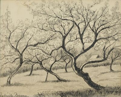 Paulémile Pissarro, 'Arbres dans un Champ (Trees in a field)'