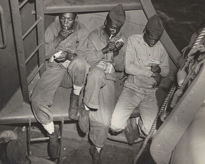 Anonymous, 'Three Black Marines (WWII US Navy), ', ca. 1940
