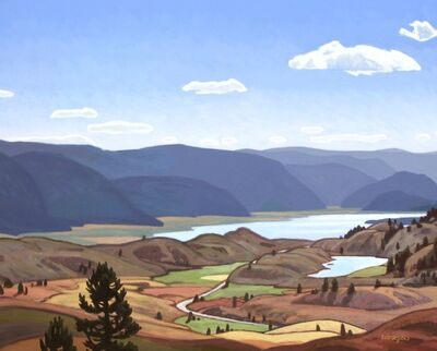 Clayton Anderson, 'Above Lake Osoyoos'