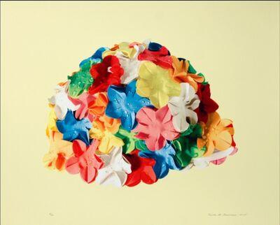 Carole A. Feuerman, 'Multi-Color Bathing Cap On Beige', 2014