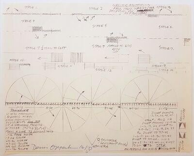Dennis Oppenheim, 'Construction Drawing', 1969