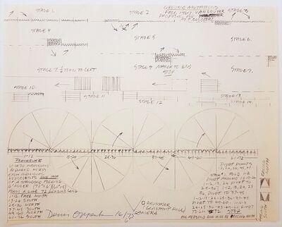 Dennis Oppenheim, 'Construction Drawing', 1969