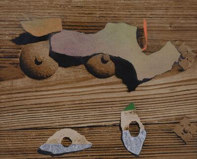 Kiyohiko Komura, 'Collage on Wood, ', ca. 1950